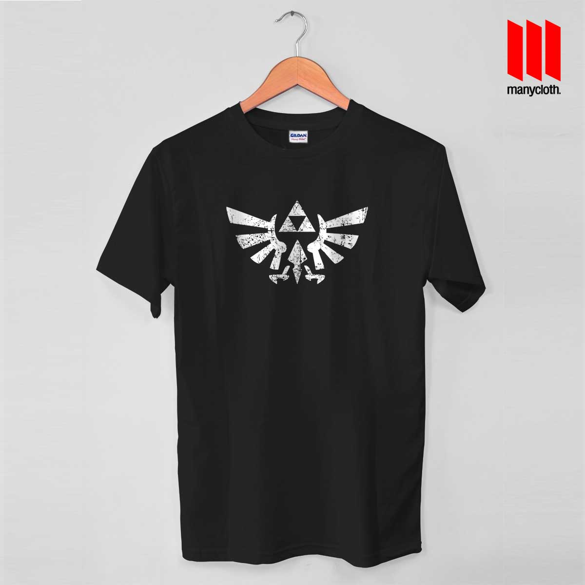 eeb891676 Zelda Triforce Symbol T Shirt - by ManyCloth chep designs.com